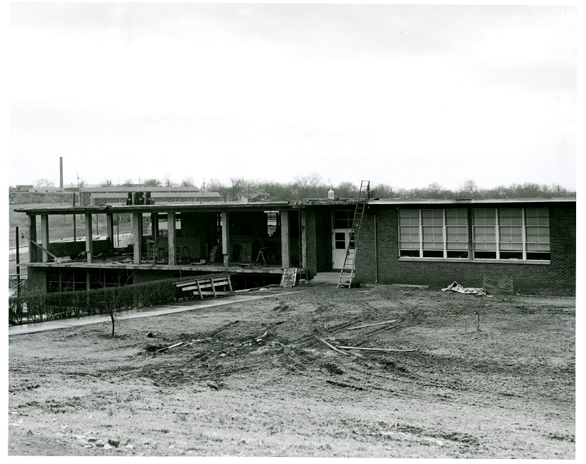 View of McKissack Elementary School under construction