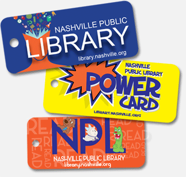three library cards