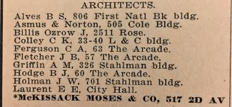 1911 City Directory Business page