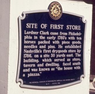 Sign marking location of the first store on 2nd Ave