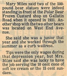Nashville Banner clipping from 1980 that interviewed a former employee of the business