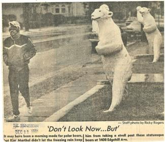 Tennessean clipping from December, 1981 at 1408 Edgehill Ave