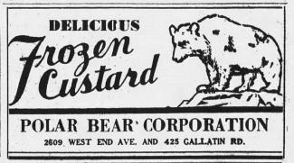 1932 ad for the Polar Bear Corporation from the Tennessean