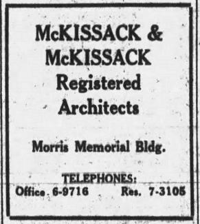 1927 Ad from the Tennessean for the McKissack & McKissack Firm