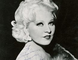 Autographed photo of Mae West